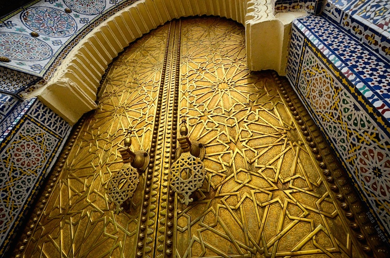 Golden doors, Royal Palace, Fes, Morocco.