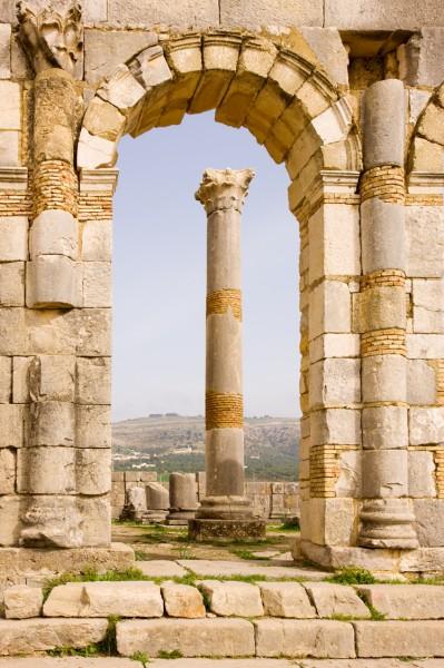Volubilis-Meknes-Morocco-Roman-Ruins