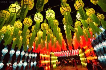paper lanterns Loy Krathong 2014