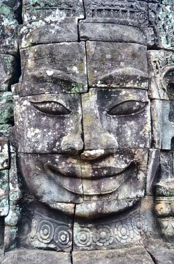Frontal view, Bayon statues, Angkor Wat, Cambodia
