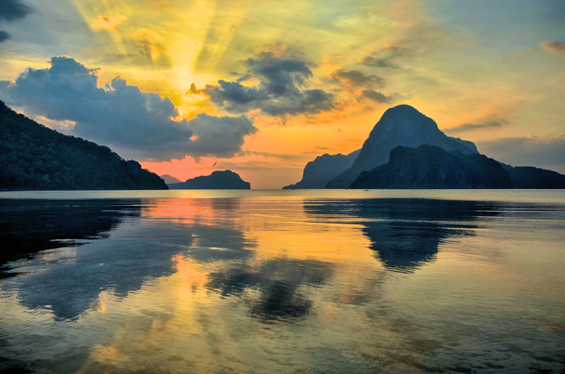 El-Nido-Palawan-Philippines-Corong-Corong-sunset